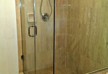 Frameless Corner Shower Unit